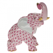 Herend Elephant - Raspberry