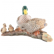 Herend Reserve Collection Mallarad Duck Family