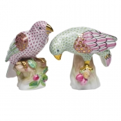 Herend Set of 2 Parrots