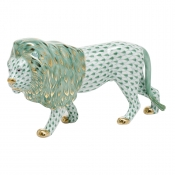 Herend Standing Lion - Green