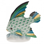 Herend Fish Table Ornament - Green