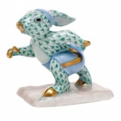 Herend Running Bunny Green
