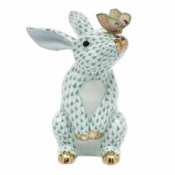 Herend Bunny w/ Butterfly Green