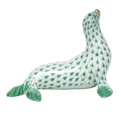 Herend Sea Lion - Green