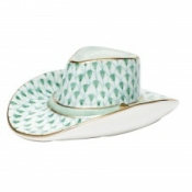 Herend Cowboy Hat Green