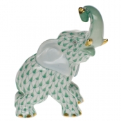 Herend Elephant - Green