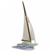 Herend Sailboat - Green
