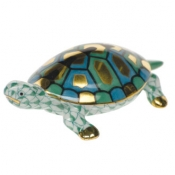 Herend Baby Turtle Green