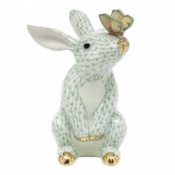 Herend Bunny w/ Butterfly Key Lime
