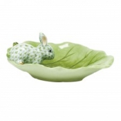 Herend Bunny on Cabbage Leaf Key Lime