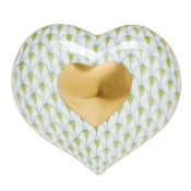 Herend Heart Of Gold - Key Lime