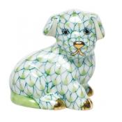 Herend Miniature Puppy - Key Lime