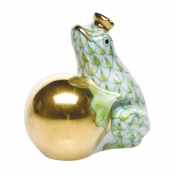 Herend Frog with Crown - Key Lime