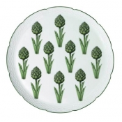 Villandry Vegetable Artichoke Flat Cake Plate