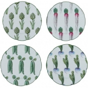 Villandry Vegetable Set 4 Dessert Plates