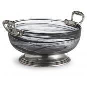 Volterra Nero Small Bowl with Handles (New)
