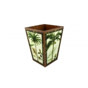 Annie Modica Palm Tree 2 Waste Can