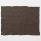 Vietri Whipstitch Chocolate with Natural Placemat /Set 4
