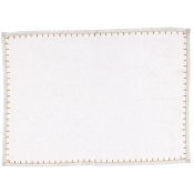 Vietri Whipstitch White with Gold Placemat /Set 4