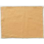 Vietri Whipstitch Mustard with Natural Placemat  /Set 4
