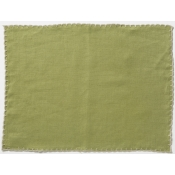 Vietri Whipstitch Olive with Natural Placemat /Set 4