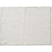 Vietri Whipstitch Oatmeal with Natural Placemat /Set 4