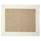 Vietri Whipstitch Ivory Woven Placemat /Set 4