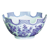 Mottahedeh Blue & White Monteith Bowl