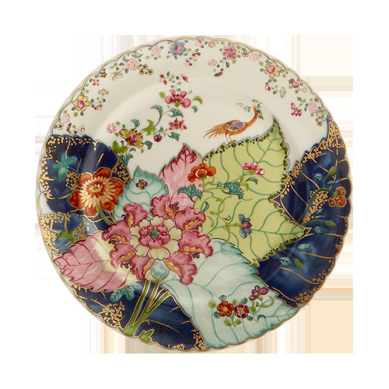 Mottahedeh Tobacco Leaf Dessert Plate